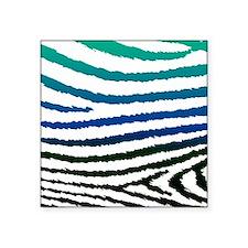 "Fashion Blue Green jagged Z Square Sticker 3"" x 3"""