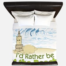 I'd rather be at the Beach! King Duvet