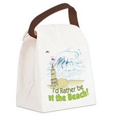 I'd rather be at the Beach! Canvas Lunch Bag