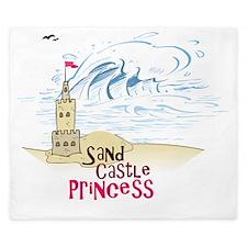 Sand Castle Princess King Duvet