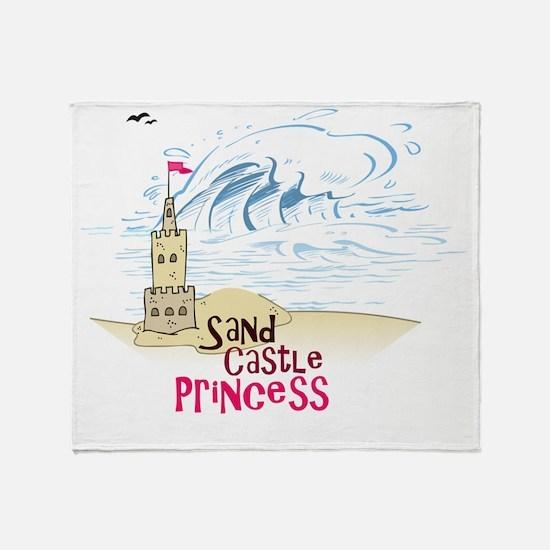 Sand Castle Princess Throw Blanket