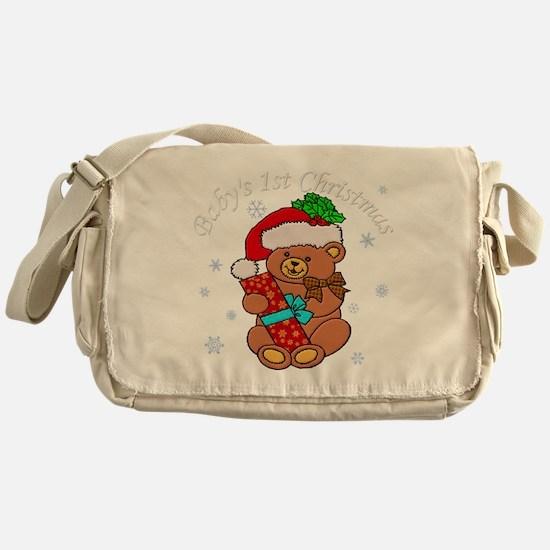 Babys 1st Christmas Messenger Bag
