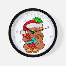 Babys 1st Christmas Wall Clock
