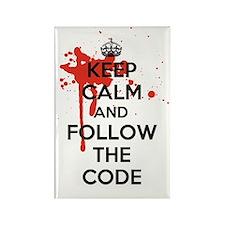 Keep Calm and Follow Harrys Code Rectangle Magnet