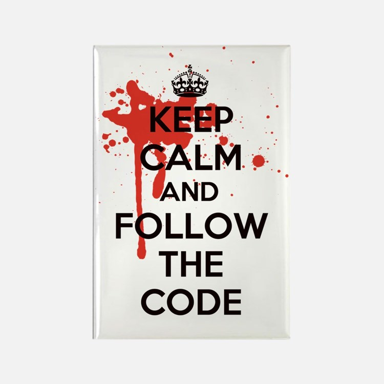Keep Calm and Follow Harrys Code Rectangle Magnet