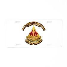Army - 191st Ordnance Bn Aluminum License Plate