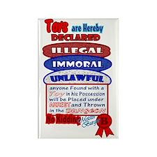 Toys Illegal Declaration Design Rectangle Magnet