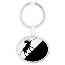 moose Oval Keychain
