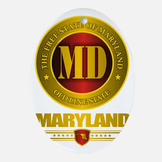 Maryland Gold Label Oval Ornament