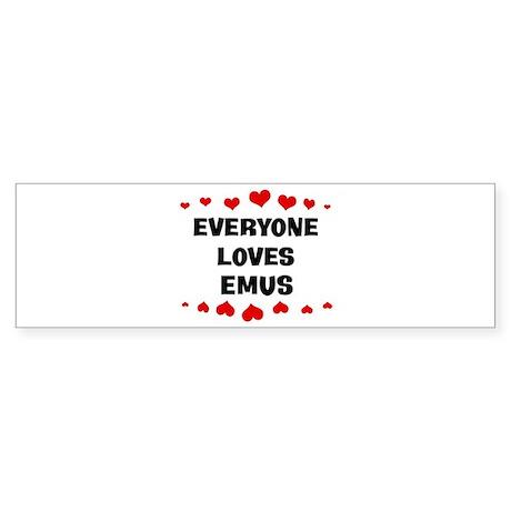 Loves: Emus Bumper Sticker