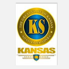 Kansas Gold Label Postcards (Package of 8)