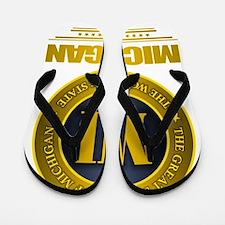 Michigan Gold Flip Flops