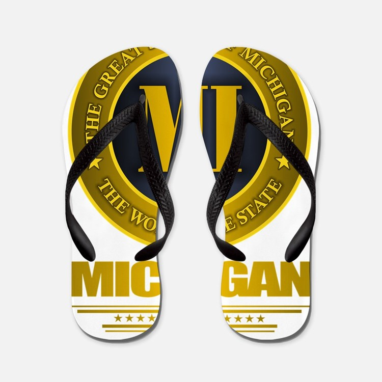Michigan Gold Flip Flops