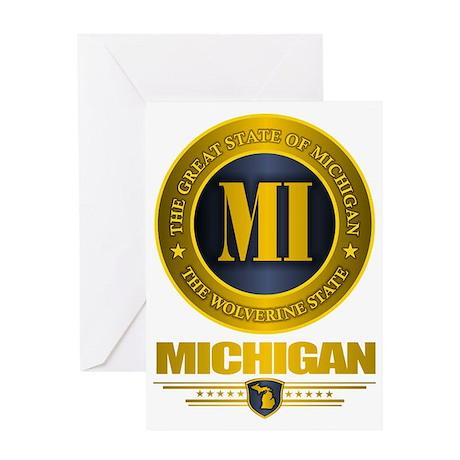 Michigan Gold Greeting Card
