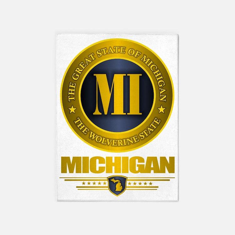 Michigan Gold 5'x7'Area Rug