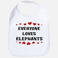 Loves: Elephants Bib