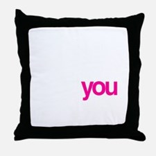 Black w/ Pink Sizzle Throw Pillow