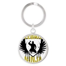 Vegan Wings Round Keychain