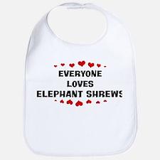 Loves: Elephant Shrews Bib