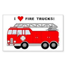 I Heart Fire Trucks! Decal