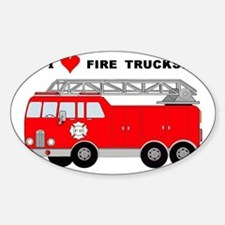 I Heart Fire Trucks! Decal