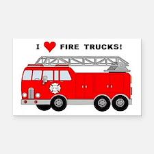 I Heart Fire Trucks! Rectangle Car Magnet