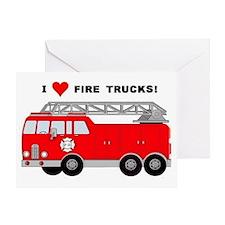 I Heart Fire Trucks! Greeting Card