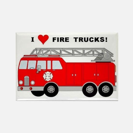 I Heart Fire Trucks! Rectangle Magnet