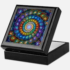 Fractal Spiral Shell Beads Keepsake Box