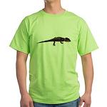 Red Eye Crocodile Skink Green T-Shirt