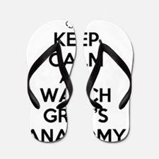 Keep Calm and Watch Greys Anatomy Flip Flops