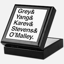 Grey, Yang, Karev, Stevens, Omalley Keepsake Box