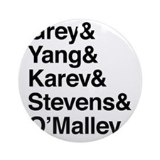 Grey, Yang, Karev, Stevens, Omalley Round Ornament