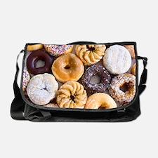 lots of donuts - different kinds - v Messenger Bag