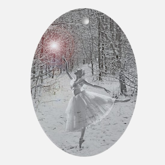 The Snow Queen Oval Ornament