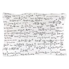Mathematics equations on white Pillow Case