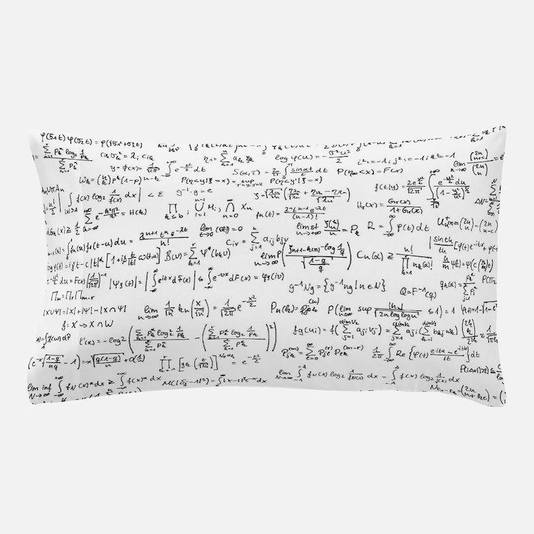 Mathematics equations on white Pillow Case