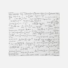 Mathematics equations on white Throw Blanket