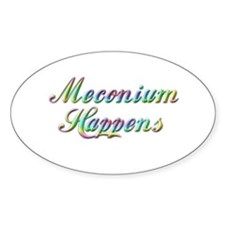 The Meconium Oval Decal