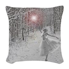 The Snow Queen Woven Throw Pillow