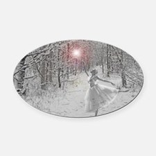 The Snow Queen Oval Car Magnet