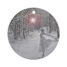 The Snow Queen Round Ornament