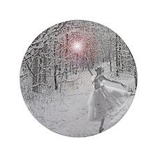 """The Snow Queen 3.5"""" Button"""