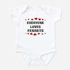 Loves: Ferrets Infant Bodysuit