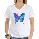 Butterfly Womens V-Neck T-shirts
