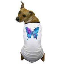 Electric Blue Butterfly Dog T-Shirt