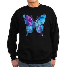Electric Blue Butterfly Sweatshirt