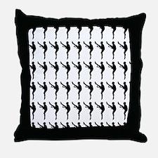 Football Kicker Silhouette or Icon Throw Pillow