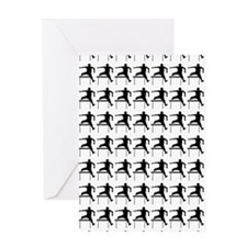 Hurdler Track  Field Silhouette or I Greeting Card