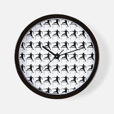 Hurdler Track  Field Silhouette or Icon Wall Clock